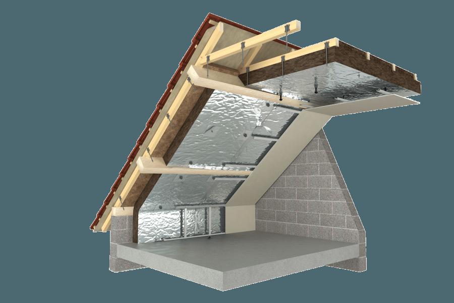 charpente industrielle entre et sous ou sous chevrons et. Black Bedroom Furniture Sets. Home Design Ideas